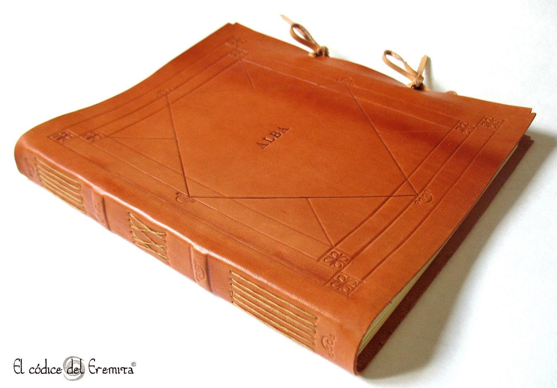 custom handmade leather photo album wedding guest book by. Black Bedroom Furniture Sets. Home Design Ideas