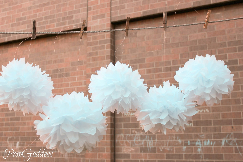 10 wedding decorations tissue pom poms by pomgoddess on etsy. Black Bedroom Furniture Sets. Home Design Ideas