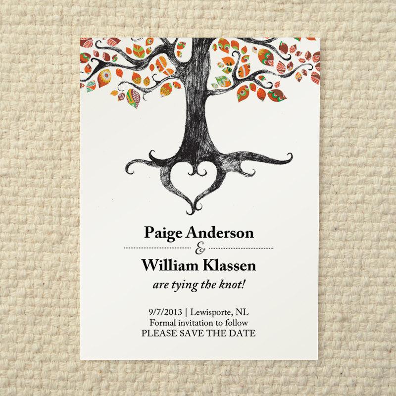Rustic Diy Fall Wedding: Fall / Autumn Wedding Save-the-Date Rustic By