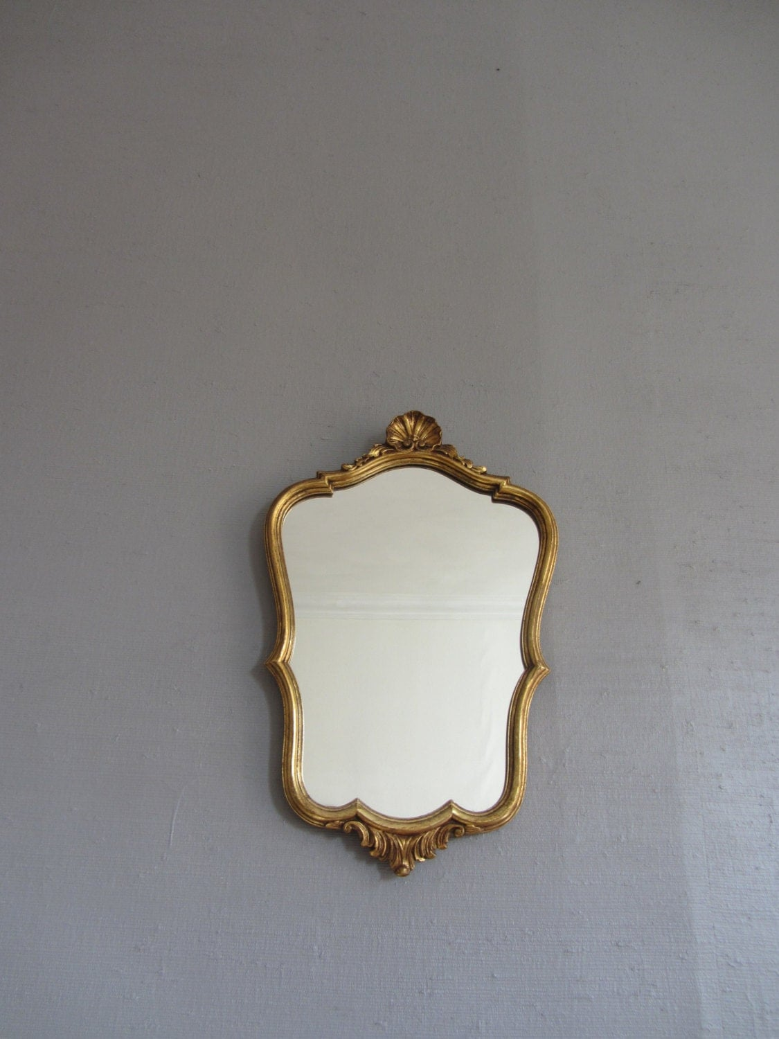 Vintage French Louis Style MIRROR  ~ Gold Gilded Framed Mirror ~ Wall Hanging Decor ~ Shabby Chic Style ~ Petit Miroir ~ Antique Gilt Mirror - FeatherAFrenchNest