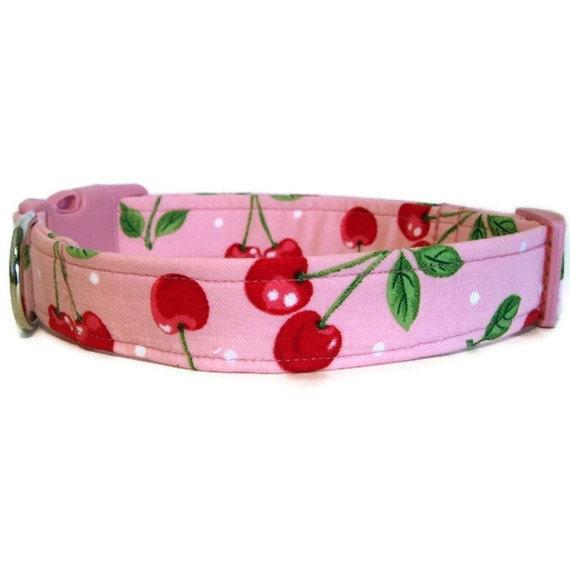 Pink Dog Collar - Cherry Smoothie - BigpawCollars