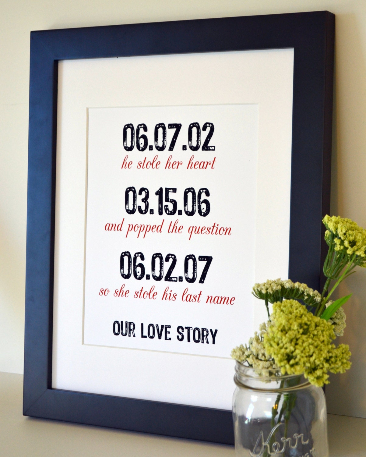 Unusual Wedding Anniversary Gifts Husband : ... anniversary gift- engagement gift- gift for husband/ wife- unique gift