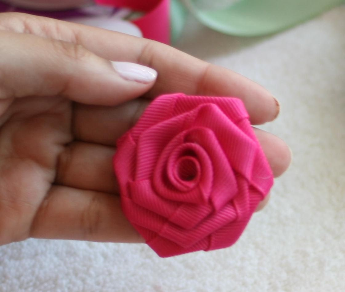 diy no sew ribbon flowers - photo #8