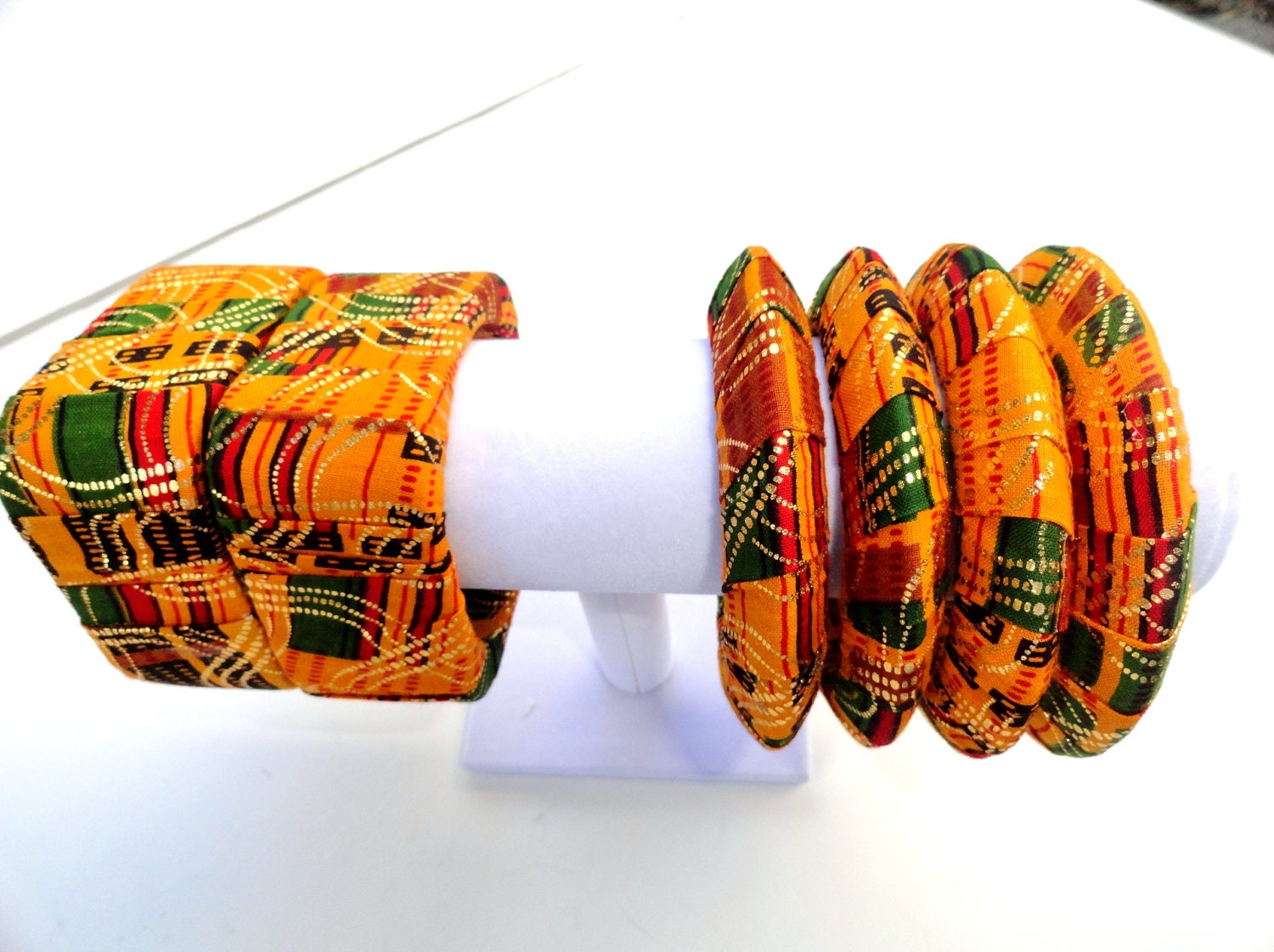 African Jewerly- Handmade  African print bangles