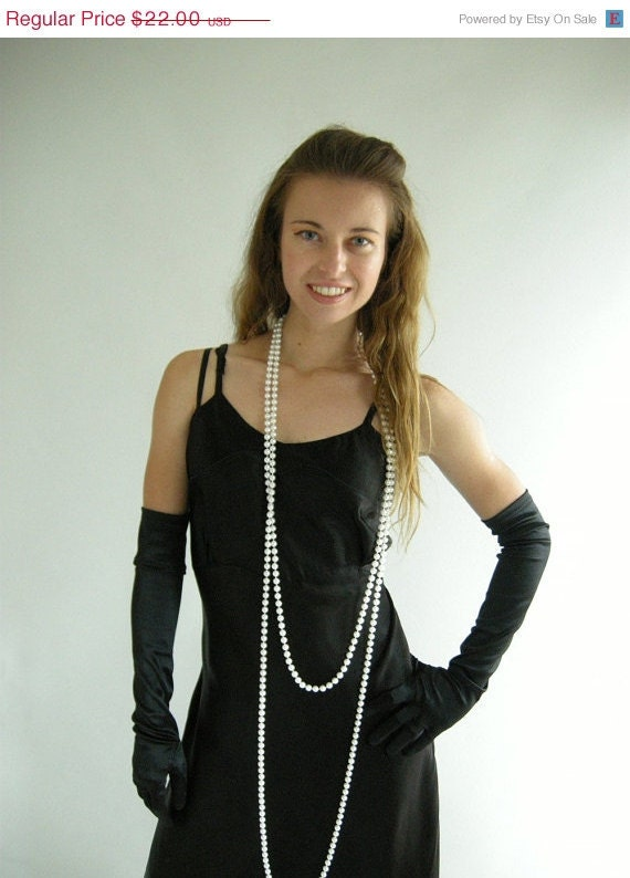 Holiday Sale Black Satin Bias Cut Vintage 30s Full by empressjade