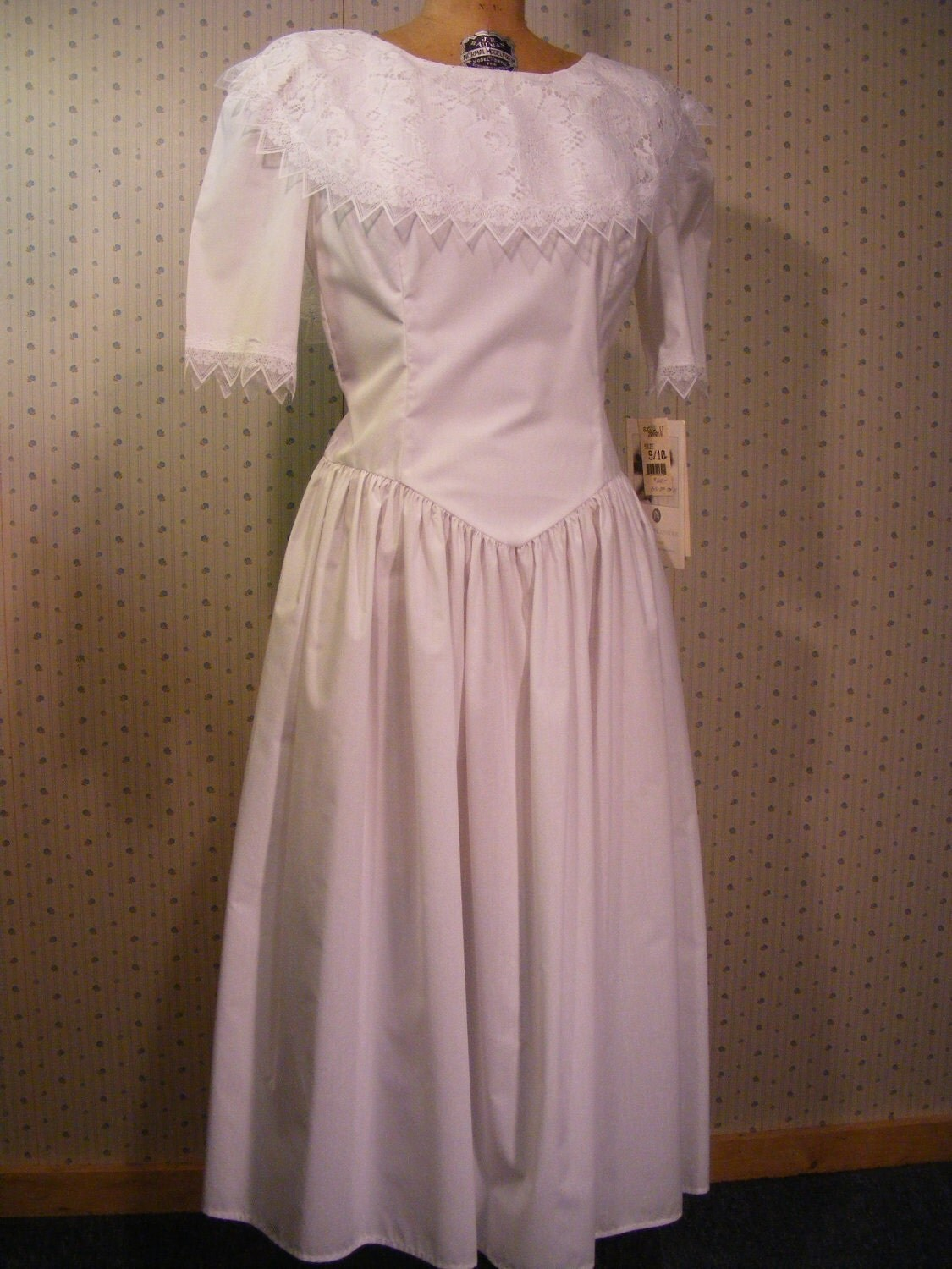 Vintage 1980s jessica mcclintock gunne sax by for Jessica mcclintock wedding dresses outlet