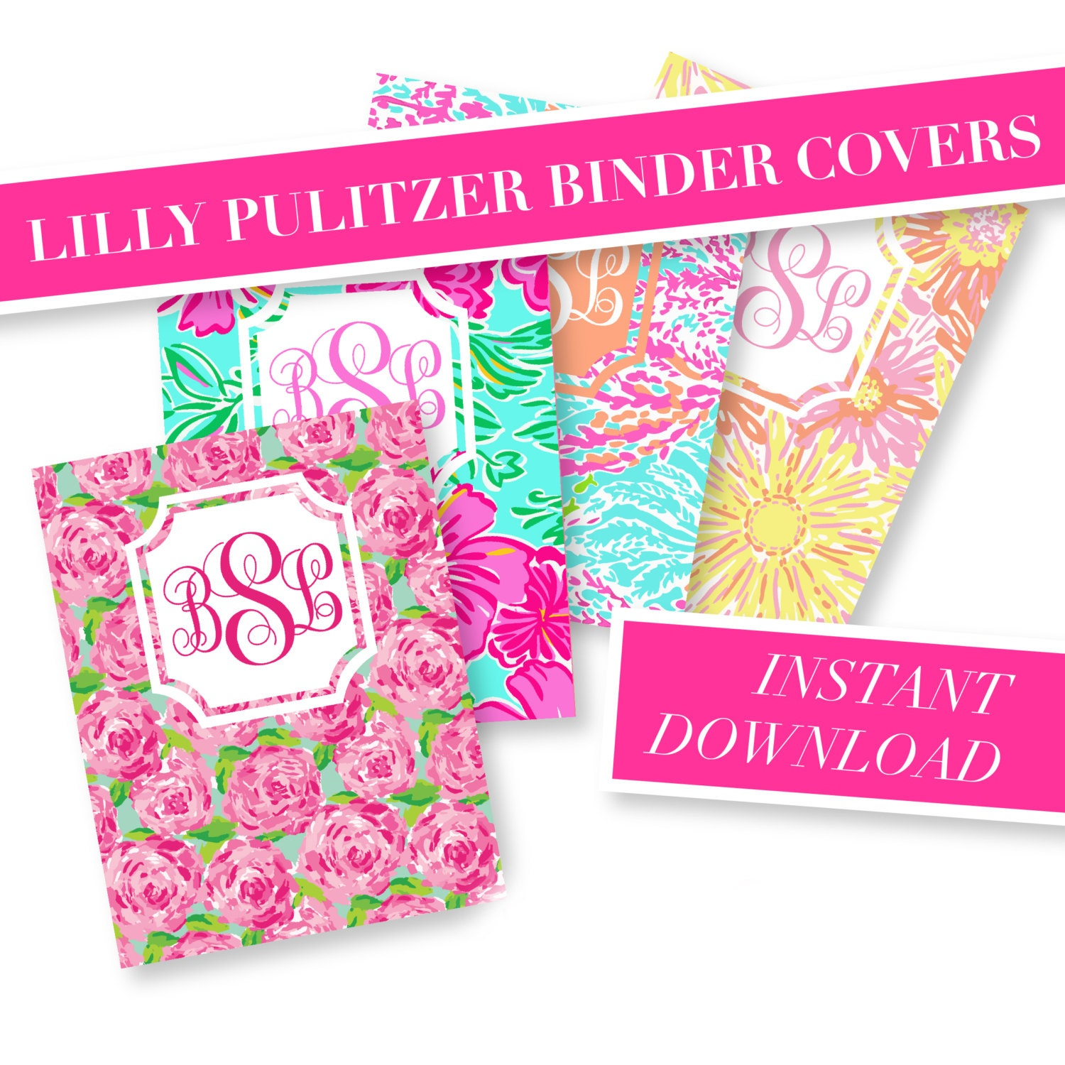 This is a photo of Exhilarating Printable Monogram Binder Cover