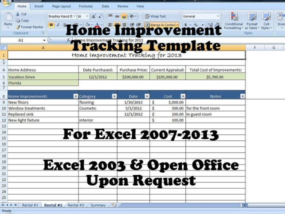 Free Template Download 1Page Excel Expense Tracker for