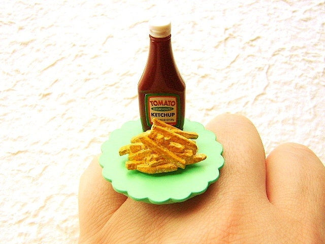 French Fries Ring Cute Food Ring Miniature By Souzoucreations
