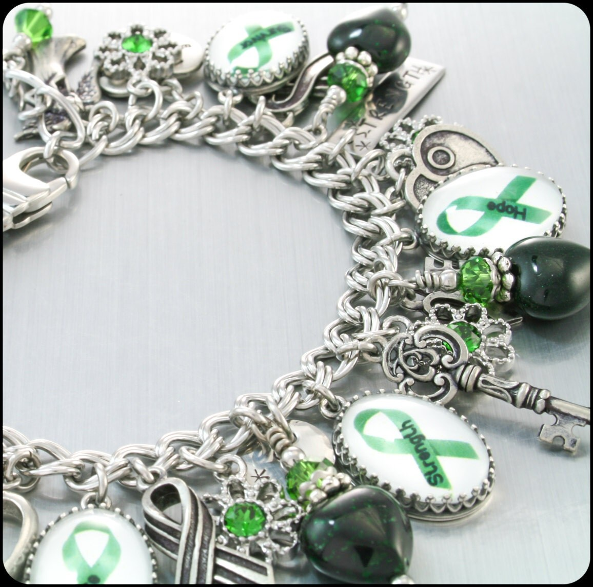mental health awareness charm bracelet mental by