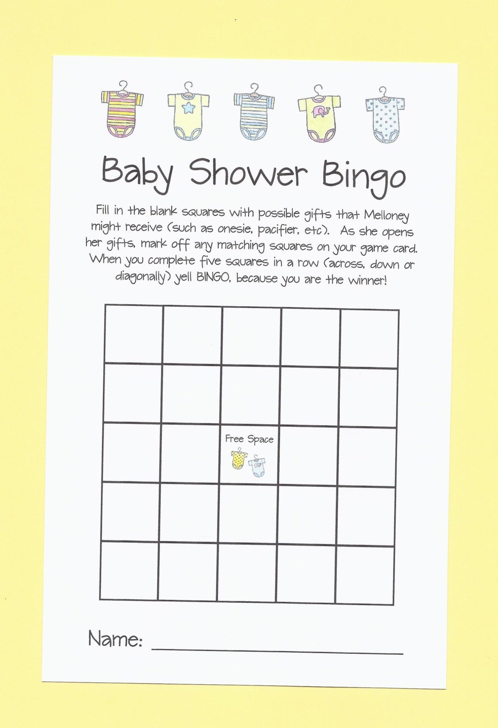 baby shower game baby shower bingo your shower is a winner