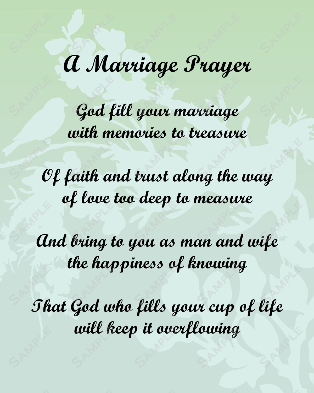 Items similar to A Marriage Prayer Poem Love Poem for Bride or Groom ...
