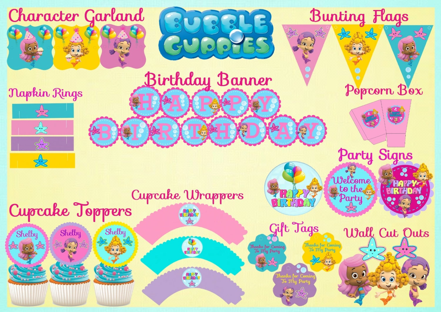 Bubble Guppies Birthday Party Free Printables Quotes