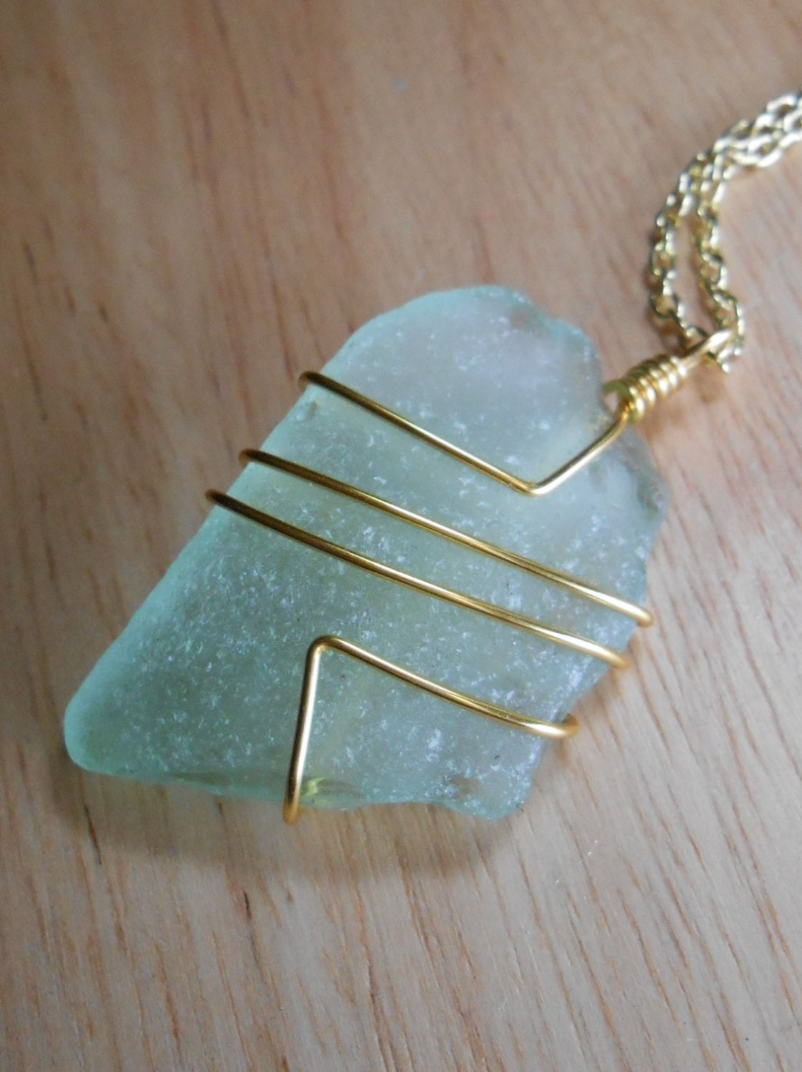 Sea Glass Jewelry Wire Wrapped Beach Glass By Seafinddesigns