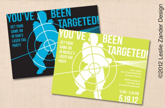 You Ve Been Targeted Laser Tag Personalized By
