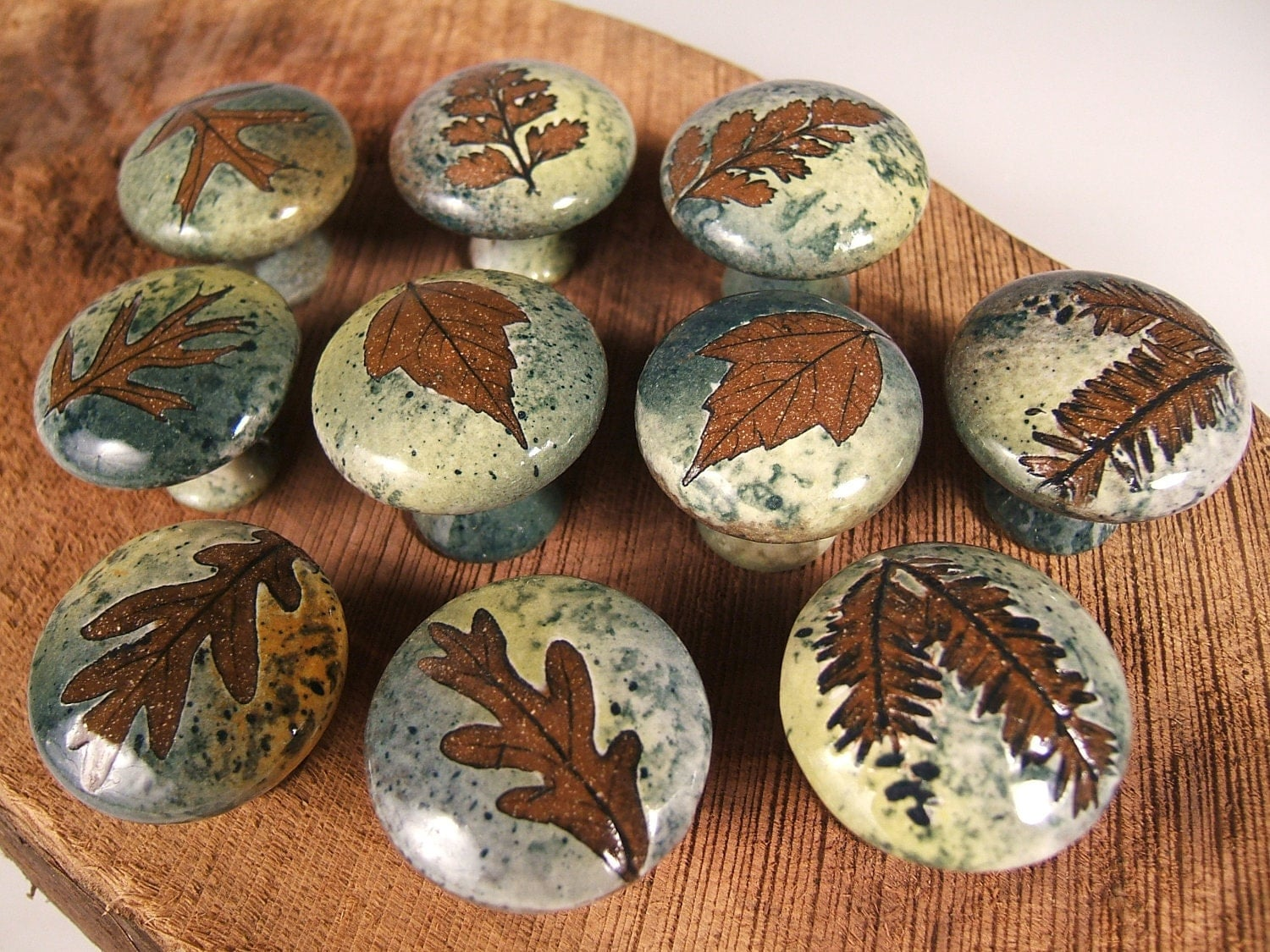 10 ceramic cabinet knobs drawer pulls tree by potsbydeperrot