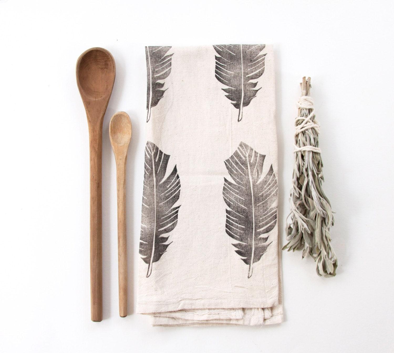Feather Tea Towel - nativebear