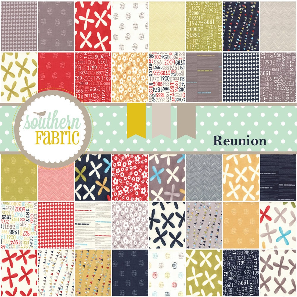 Reunion by Sweetwater for Moda-- Charm Pack-- 5 inch 42 Quilt Fabric Squares