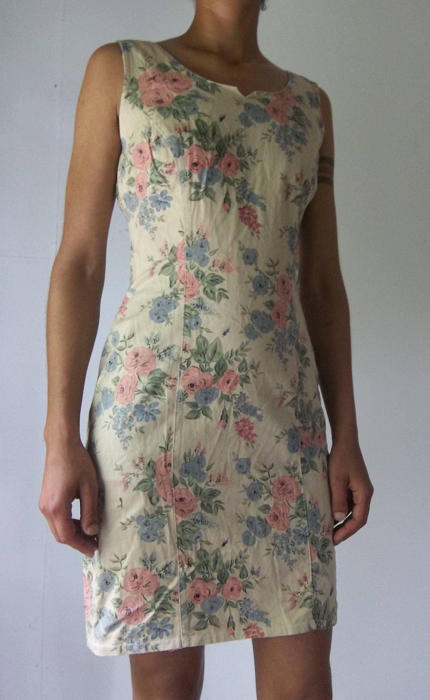 Vintage Floral Handmade Boho Wedding Bodycon Mini Tea Dress Its rich blood blue petals smells of sweet ginger and honey