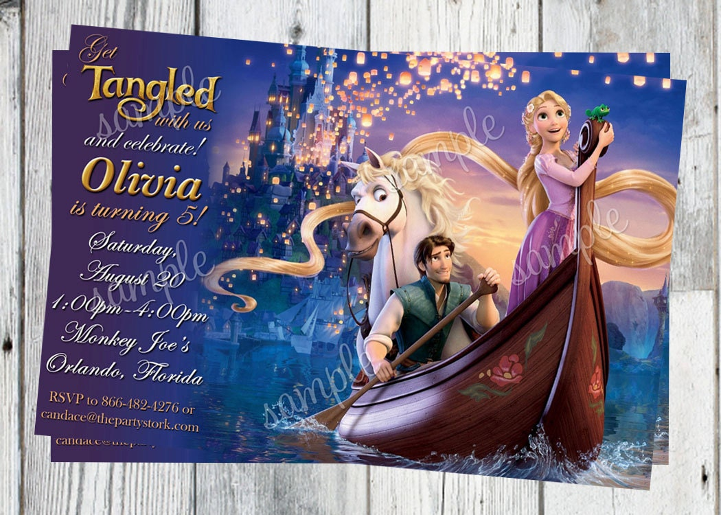 Tangled Birthday Invitations and get inspiration to create nice invitation ideas