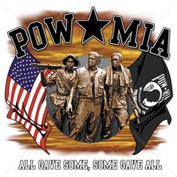 Pow Mia Soldiers And Flags Some Gave All All Gave Some T