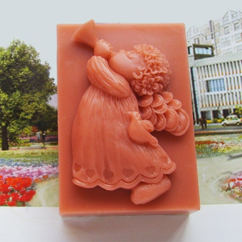 Soap Mold,Cake Mold Angel Trumpet player  Christmas Gift Silicone Mold, For Soap, Candy,Cake, Ice,Craft