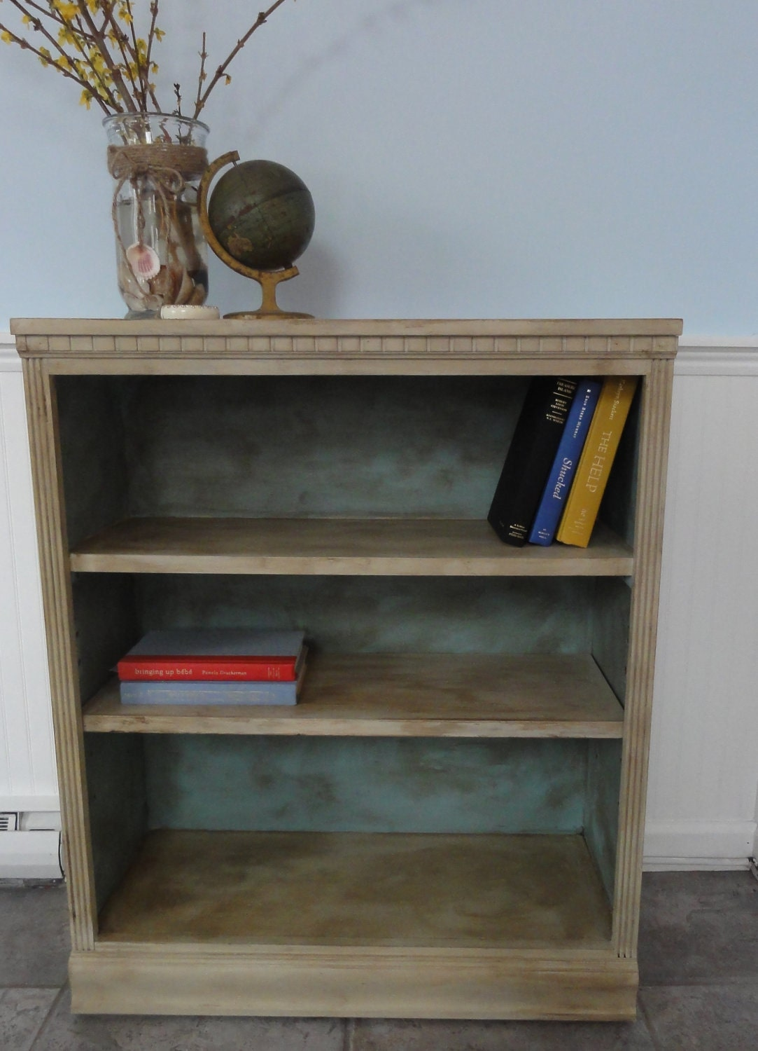 Chalk Paint A Book Shelf