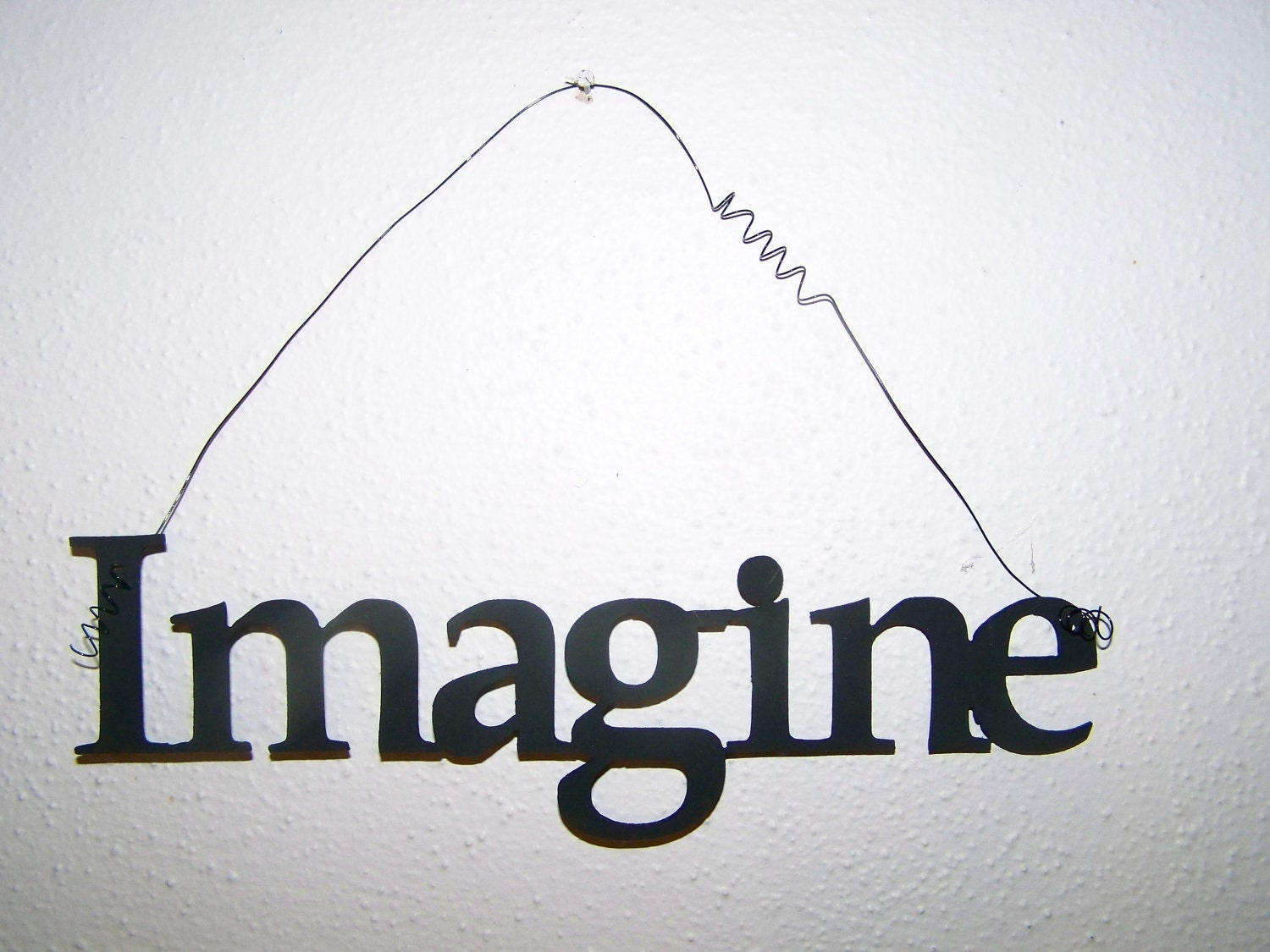 Inspirational Word IMAGINE Wall Hanging Home Decor Metal - ScharesMetalWorks