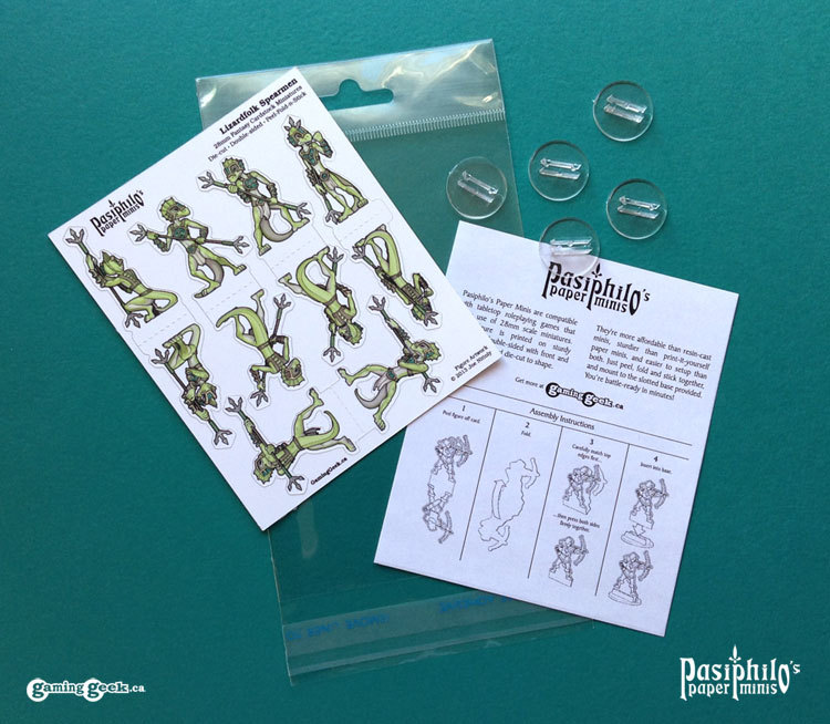 Lizardfolk Spearmen - white trim package contents