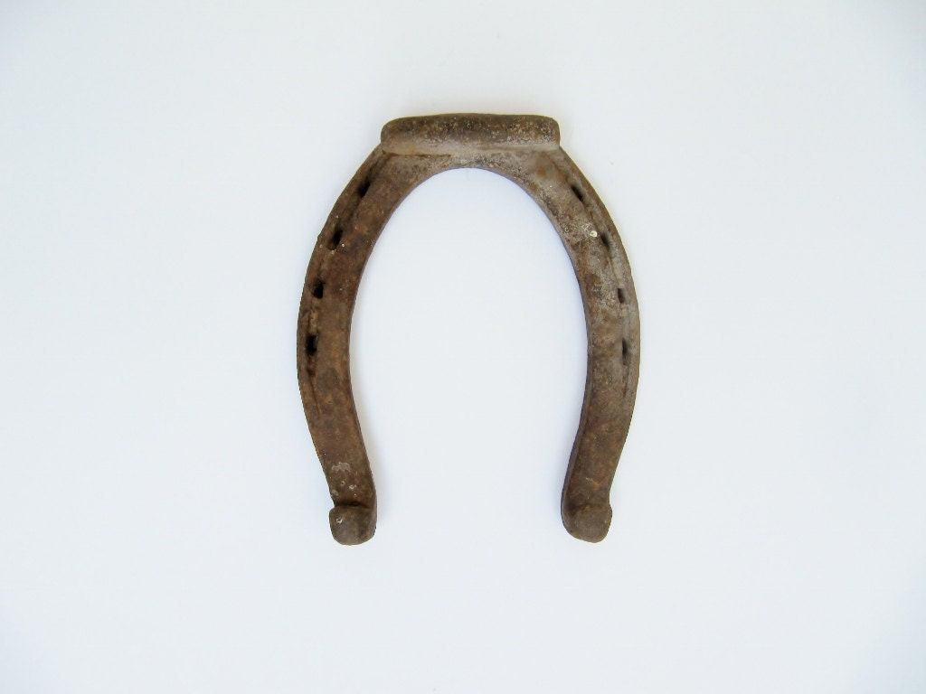 One Single Rustic Horseshoe for Luck - Modred12