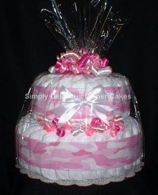 items similar to pink camo diaper cake baby shower gift girl