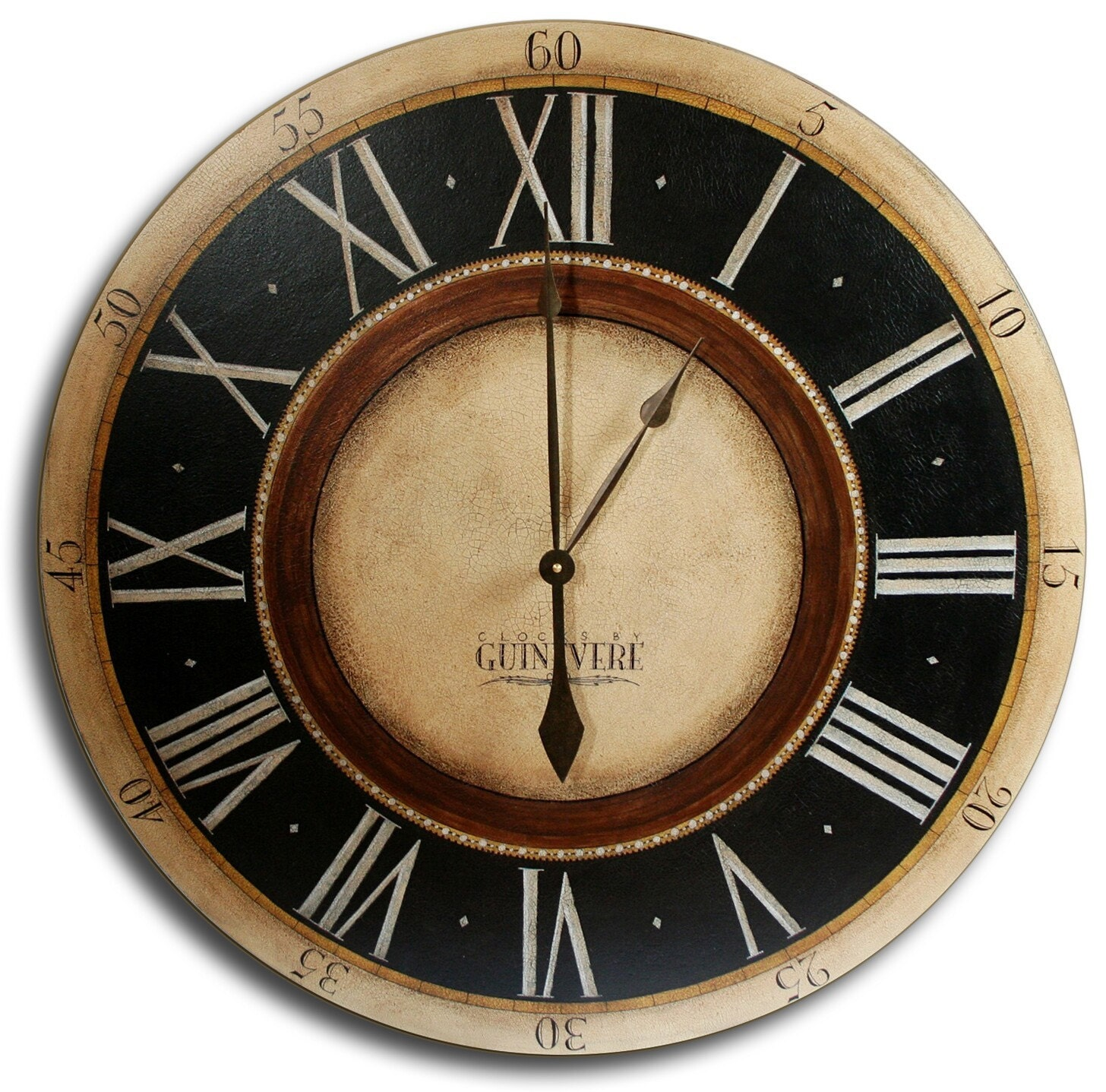 30in large antique style big wall clock art penny by