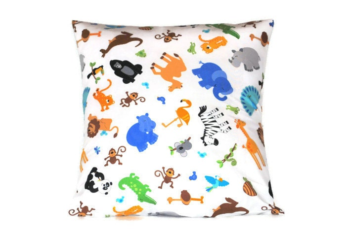 Zoo Animal Pillows : Popular items for animal pillowcases on Etsy