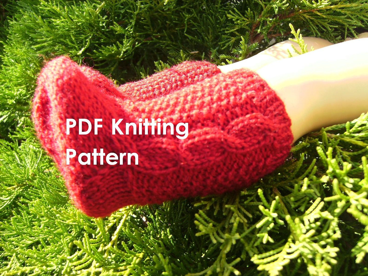 Aran Sock Knitting Pattern : PDF Knitting Pattern Knit Socks with Irish Aran by ...