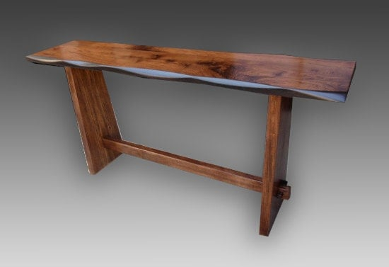 Japanese Style Console Table ~ Japanese kyoto style console table walnut ebay