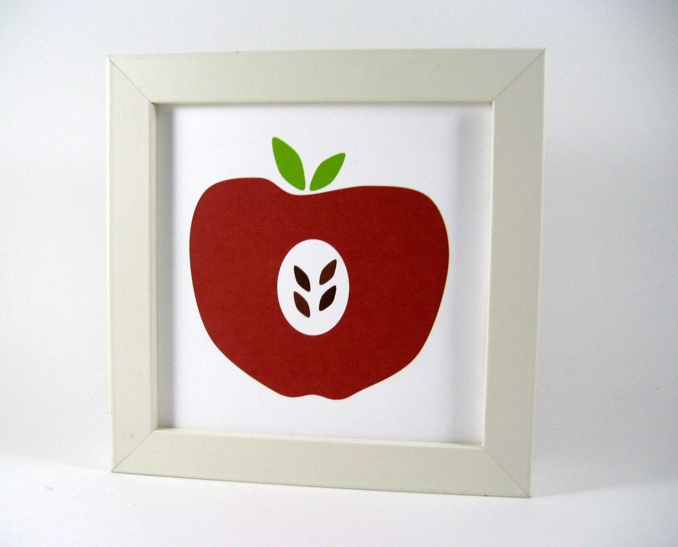 Items similar to red apple wall art print home decor for Apple home decor