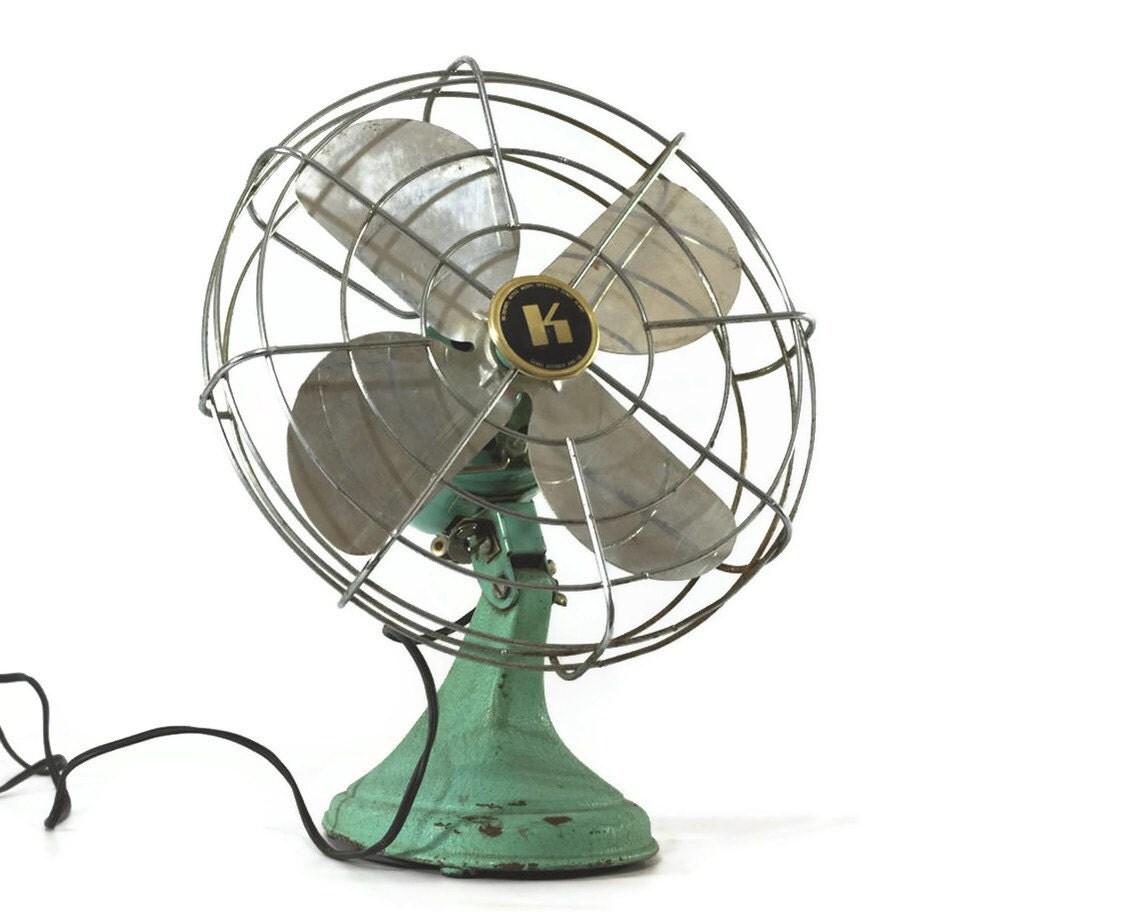 Vintage Electric Fan Kenmore Minty Green Aqua by GizmoandHooHa #4F7C60