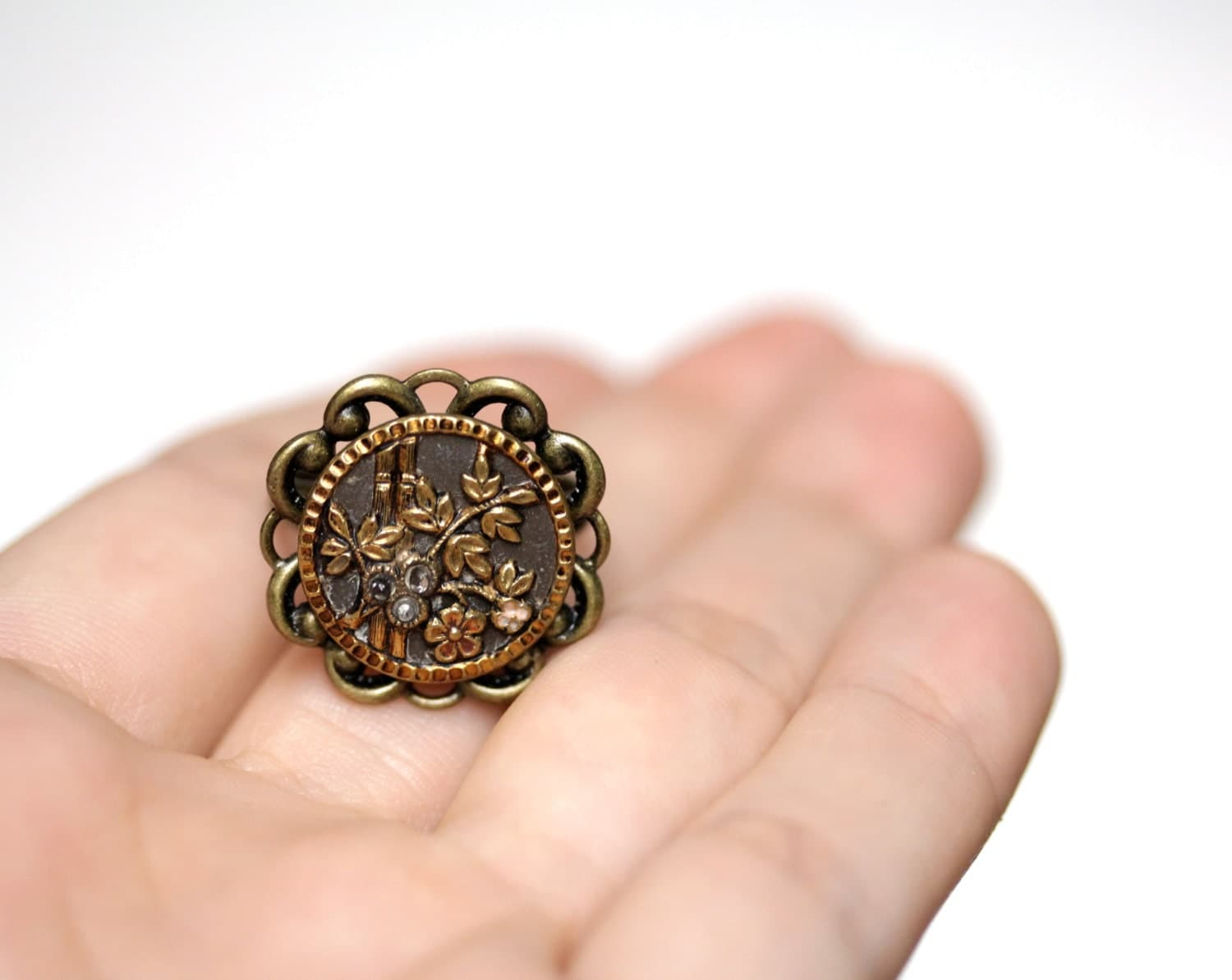 items similar to bamboo ring antique asian jewelry brass