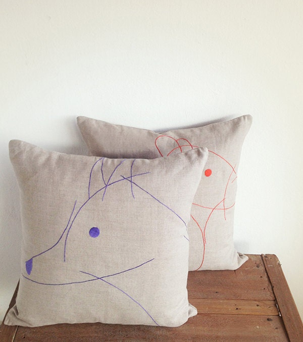 Animal Embroideries pillow cover - ShallWeShop