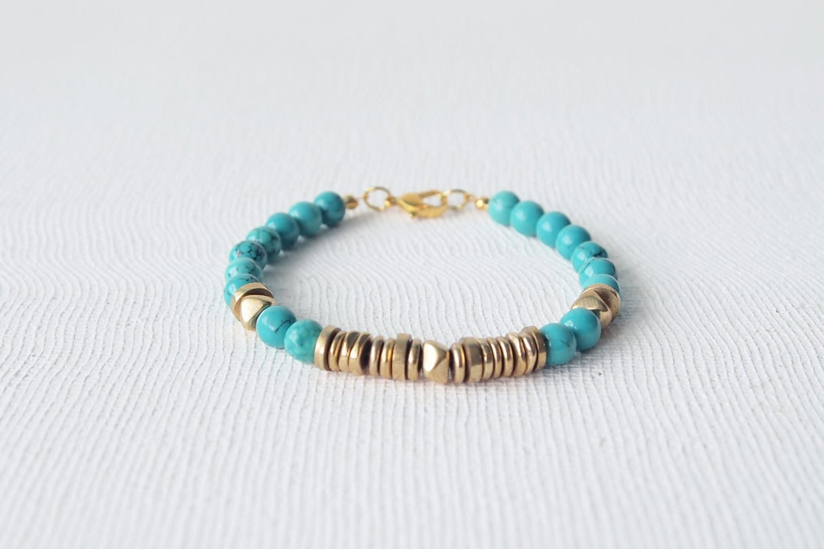 stack bracelet summer jewelry turquoise by