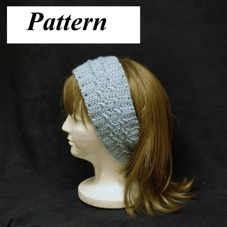 Crochet Headband Pattern Cable : pdf Crochet Headband Earmuff Pattern Cable by AllThingsTangled
