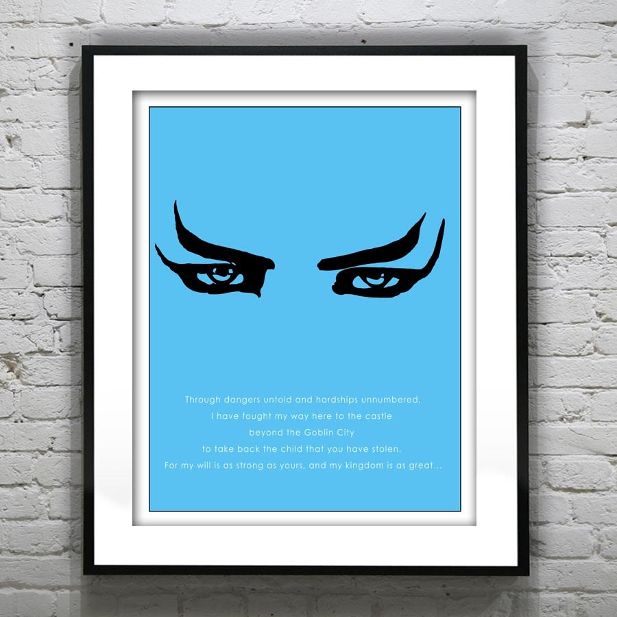 Unavailable Listing on Etsy Labyrinth Movie Quotes You Have No Power Over Me