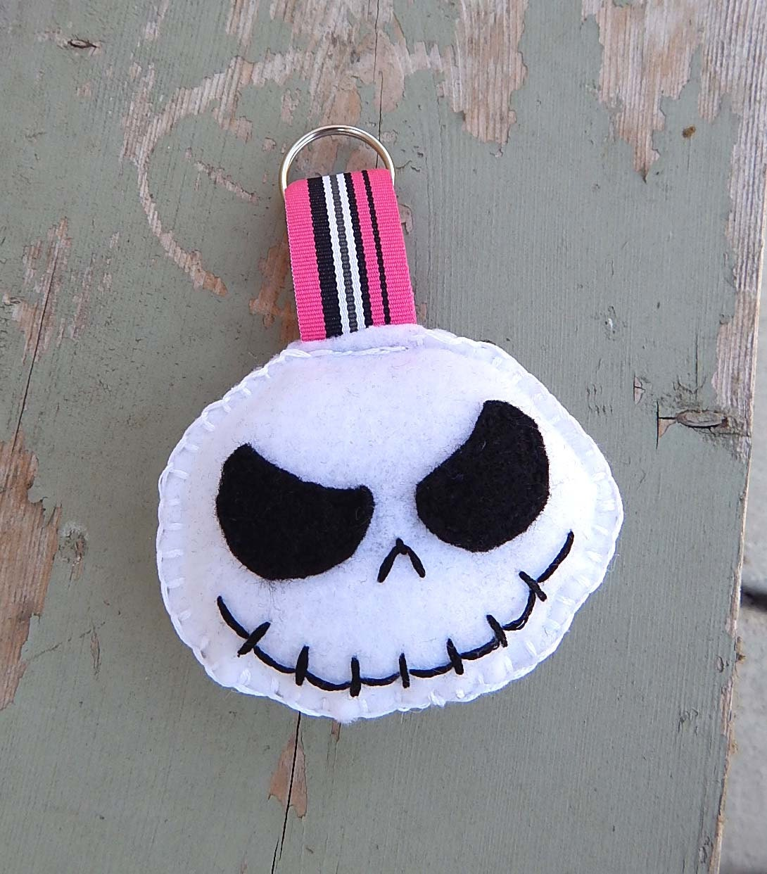 Bone Daddy Skull Head Stuffed Felt Keychain