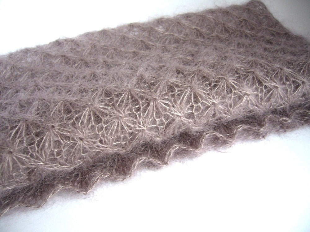 DREAMY wrap - hand knit mohair lace newborn photo prop