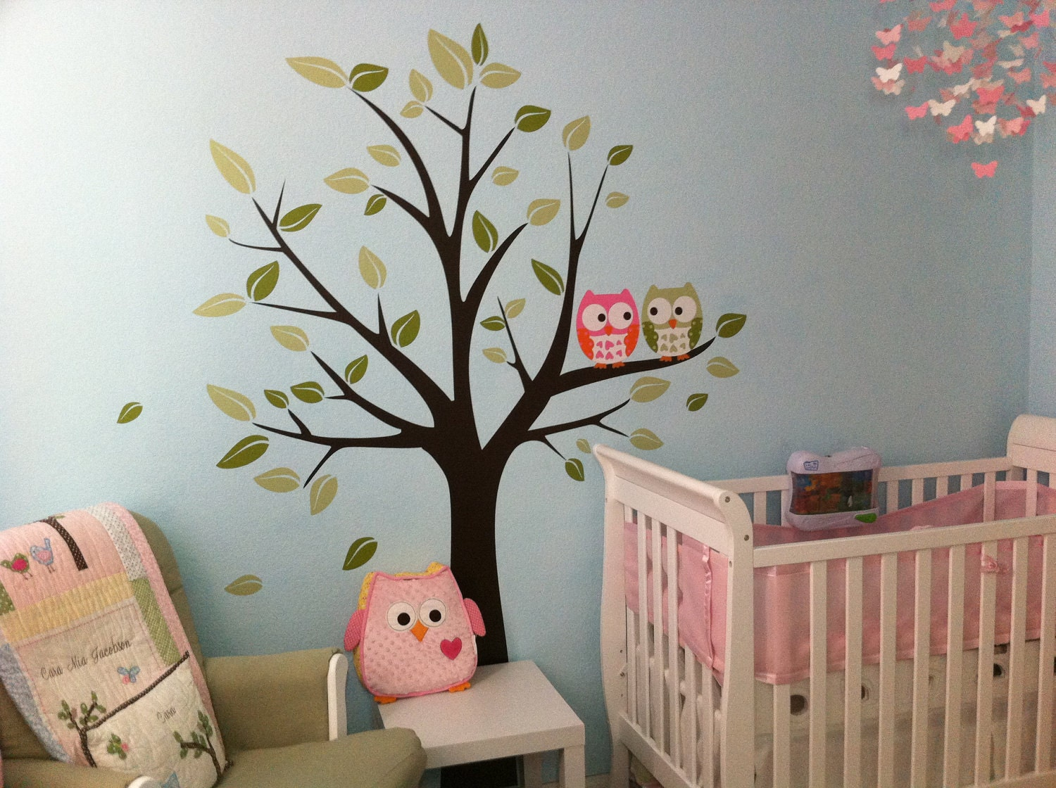 wall decals owls on a tree baby nursery decals