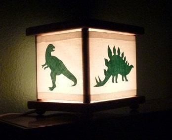 String Lights Green Dinosaur : Dinosaur Lamp Dinosaur Nightlight Night Light by babymamma1