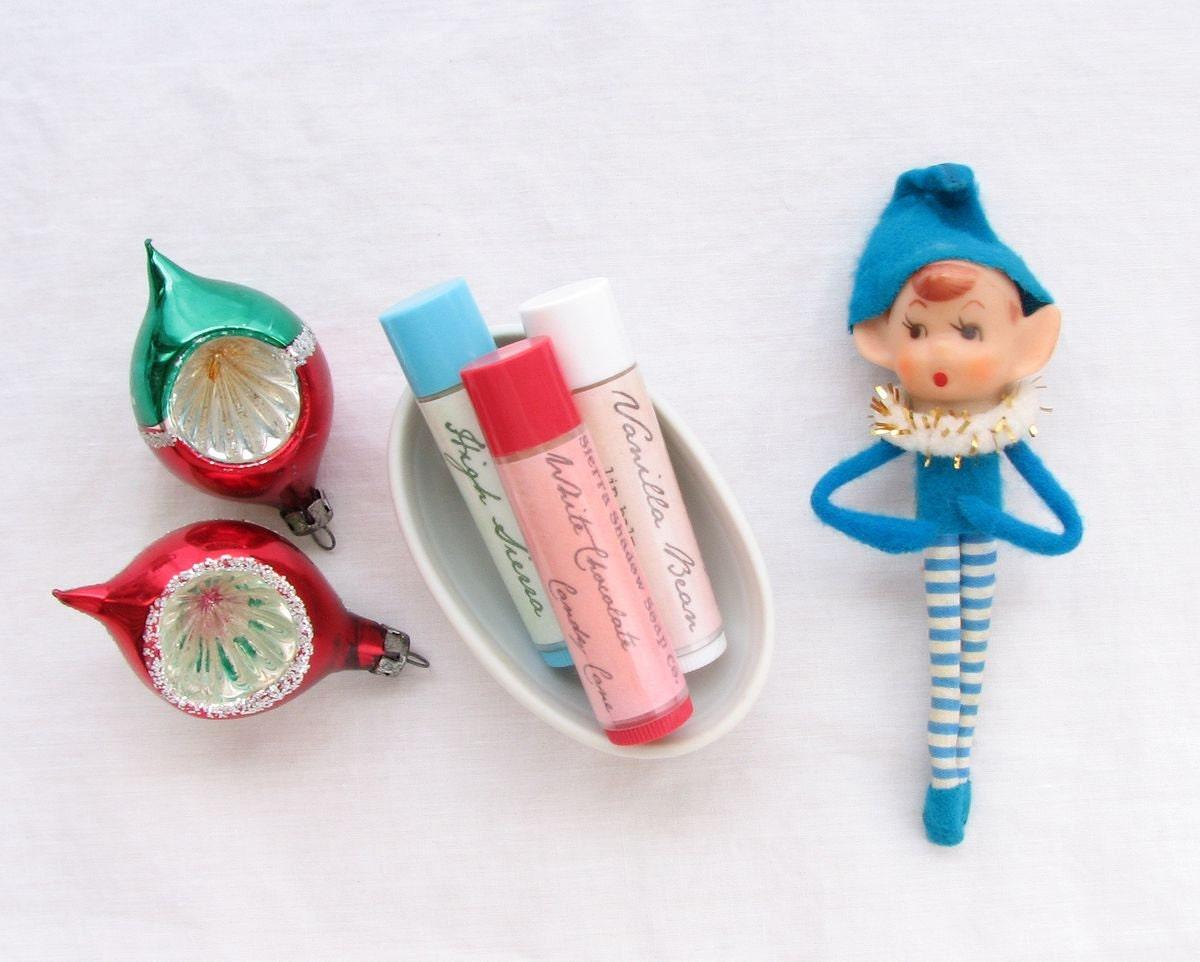 lip balm gift set / any three flavors / all natural - SierraShadowSoapCo