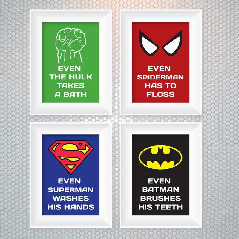 Superhero Bathroom Ideas