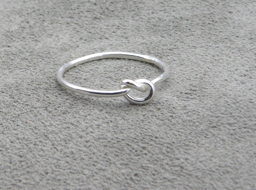 silver knot ring lets tie the knot sale was by thesilversmith