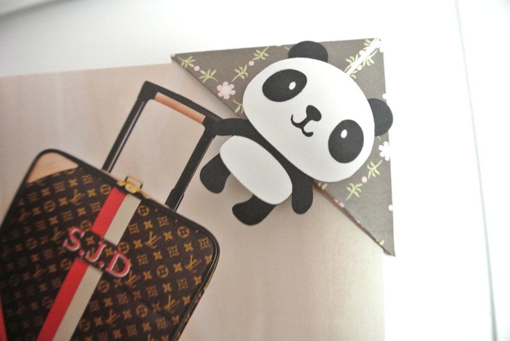 Panda corner bookmark